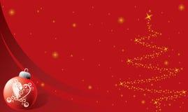 Fondo de la Navidad con el ornamento stock de ilustración