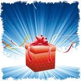 Fondo de la Navidad con el presente ilustración del vector