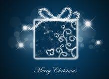 Fondo de la Navidad con el rectángulo de regalo. Fotos de archivo libres de regalías