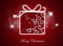 Fondo de la Navidad con el rectángulo de regalo. Imagen de archivo libre de regalías