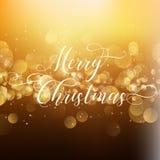 Fondo de la Navidad con el tipo decorativo Fotografía de archivo libre de regalías