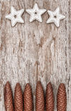 Fondo de la Navidad con formas y conos de la estrella Imagenes de archivo