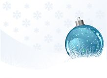 Fondo de la Navidad con la bola Imagen de archivo libre de regalías