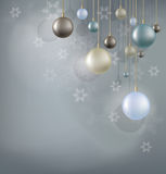 Fondo de la Navidad con la bola de la ejecución Imagen de archivo libre de regalías