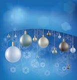 Fondo de la Navidad con la bola de la ejecución Fotos de archivo libres de regalías