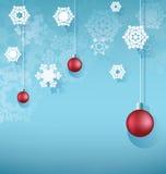 Fondo de la Navidad con la bola de la ejecución Imagenes de archivo