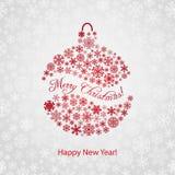 Fondo de la Navidad con la bola de la Navidad ilustración del vector