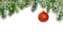 Fondo de la Navidad con la bola roja de la Navidad Fotos de archivo libres de regalías