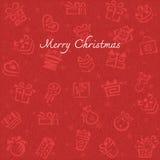 Fondo de la Navidad con la caja de regalo Foto de archivo libre de regalías