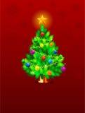 Fondo de la Navidad con la estrella que cierra Foto de archivo libre de regalías