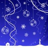 Fondo de la Navidad con la muchacha Imagen de archivo libre de regalías