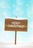 Fondo de la Navidad con la placa de madera libre illustration
