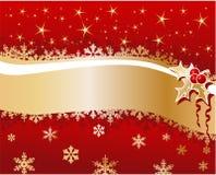 Fondo de la Navidad con las bayas Fotos de archivo libres de regalías