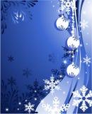 Fondo de la Navidad con las bolas Imagen de archivo