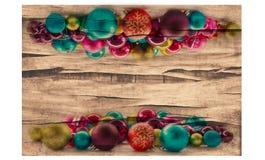 Fondo de la Navidad con las bolas y las decoraciones Imagenes de archivo