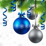 Fondo de la Navidad con las chucherías Fotos de archivo libres de regalías