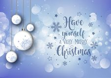 Fondo de la Navidad con las chucherías de la ejecución y el texto decorativo libre illustration