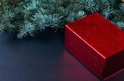 Fondo de la Navidad con las decoraciones Imágenes de archivo libres de regalías