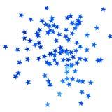 Fondo de la Navidad con las estrellas azules Foto de archivo