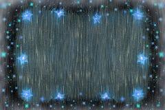 Fondo de la Navidad de la Navidad con las luces azules ilustración del vector