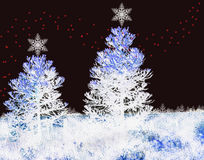 Fondo de la Navidad con las luces de Navidad Imagen de archivo