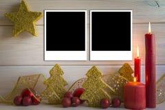 Fondo de la Navidad con las velas y un espacio para el texto Imágenes de archivo libres de regalías