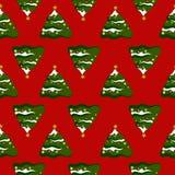Fondo de la Navidad con los árboles de navidad Imagen de archivo libre de regalías