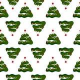 Fondo de la Navidad con los árboles de navidad Imagenes de archivo