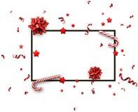 Fondo de la Navidad con los arcos y el caramelo Foto de archivo