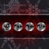 Fondo de la Navidad con los botones metálicos foto de archivo