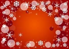 Fondo de la Navidad con los copos de nieve. Foto de archivo