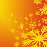 Fondo de la Navidad con los copos de nieve Fotografía de archivo
