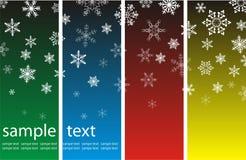 Fondo de la Navidad con los copos de nieve Imagen de archivo