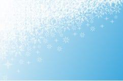 Fondo de la Navidad con los copos de nieve fotos de archivo