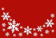 Fondo de la Navidad con los copos de nieve Fotografía de archivo libre de regalías