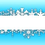 Fondo de la Navidad con los copos de nieve Libre Illustration