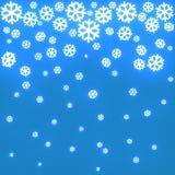 Fondo de la Navidad con los copos de nieve 3d Imagen de archivo libre de regalías