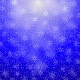 Fondo de la Navidad con los copos de nieve Imágenes de archivo libres de regalías