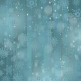 Fondo de la Navidad con los copos de nieve Imagenes de archivo