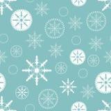 Fondo de la Navidad con los copos de nieve Foto de archivo libre de regalías