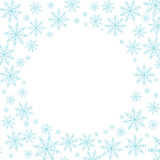 Fondo de la Navidad con los copos de nieve Fotos de archivo libres de regalías