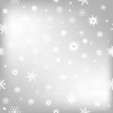 Fondo de la Navidad con los copos de nieve blancos Fotografía de archivo libre de regalías