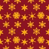 Fondo de la Navidad con los copos de nieve de oro Imagen de archivo libre de regalías