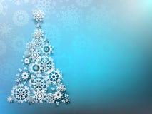 Fondo de la Navidad con los copos de nieve de papel. EPS 10 Imagen de archivo
