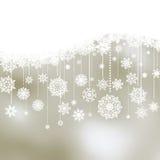 Fondo de la Navidad con los copos de nieve. EPS 8 Fotos de archivo
