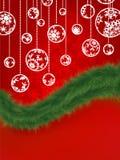 Fondo de la Navidad con los copos de nieve. EPS 8 Imágenes de archivo libres de regalías