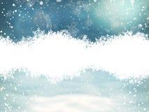 Fondo de la Navidad con los copos de nieve EPS 10 Fotografía de archivo