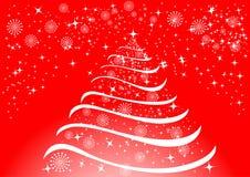 Fondo de la Navidad con los copos de nieve y las estrellas Libre Illustration