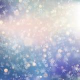 Fondo de la Navidad con los copos de nieve borrosos blancos EPS 10 libre illustration