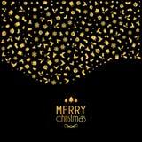 Fondo de la Navidad con los iconos festivos en colores metálicos del oro libre illustration